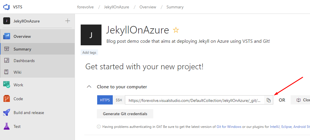 How to deploy and host a Jekyll website in Azure blob